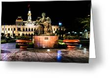 Ho Chi Minh City Hall At Night Greeting Card