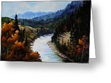 Hoback Canyon Greeting Card