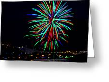 Hobart New Years Eve Fireworks Greeting Card