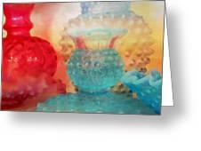Hobnail Glassware Greeting Card