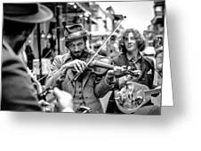 Hobo Ragtime Band Greeting Card