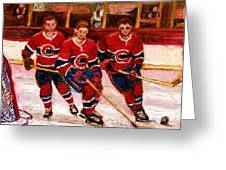 Hockey At The Forum Greeting Card
