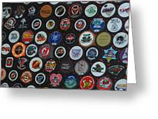 Hockey Pucks Greeting Card