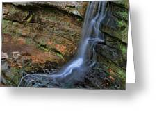Hocking Hills State Park Small Waterfall Greeting Card