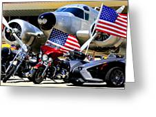 Hog Heaven At The Hollister Air Show Greeting Card