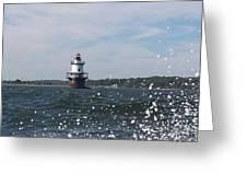 Hog Island Shoal Lighthouse Greeting Card