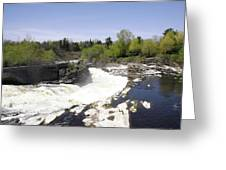 Hogs Back Falls Greeting Card