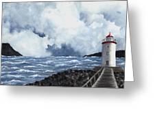 Hogsteinen Lighthouse Greeting Card