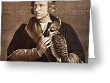 Holbein: Falconer, 1533 Greeting Card