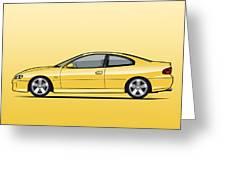 Holden Monaro Vz Cv8 Yellow Greeting Card