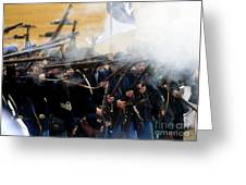 Holding The Line At Gettysburg Greeting Card