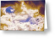 Hole In The Cloud Greeting Card