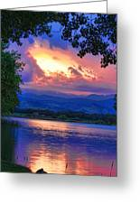 Hole In The Sky Sunset Greeting Card