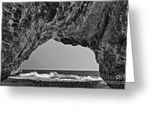 Hole In The Wall Beach Greeting Card
