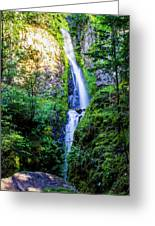 Hole In The Wall Falls Greeting Card