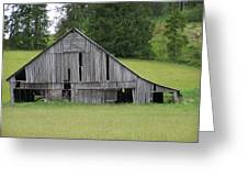 Holey Old Barn  Washington State Greeting Card