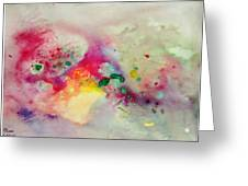 Holi-colorbubbles Abstract Greeting Card