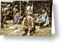 Holiday Christmas Manger Pa 02 Greeting Card