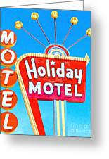 Holiday Motel Las Vegas Greeting Card by Wingsdomain Art and Photography