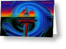 Holiday Needle 2 Greeting Card