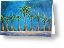 Holiday Palms Greeting Card