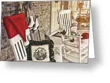 Holiday Porch Greeting Card