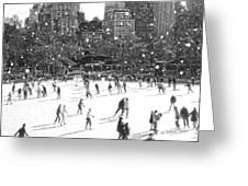 Holiday Skaters Greeting Card