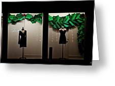 Holiday Window Fashion Greeting Card
