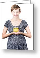 Holistic Naturopath Holding Jar Of Homemade Spread Greeting Card