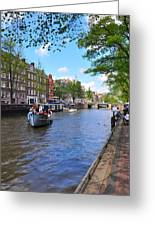 Hollanders On Canal - Color Greeting Card