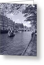 Hollanders On Canal  Greeting Card