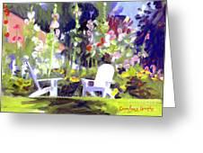 Holly Hocks Greeting Card