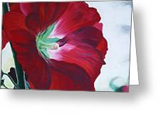 Hollyhock Greeting Card