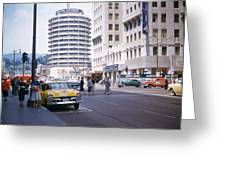Hollywood And Vine California 1956 Greeting Card