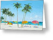 Hollywood Beach Florida And Coconut Palms Greeting Card