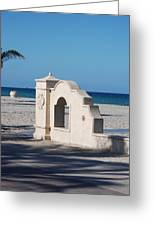 Hollywood Beach Wall In Color Greeting Card