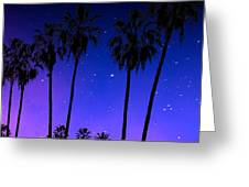Hollywood Palm Tree Abstract Greeting Card