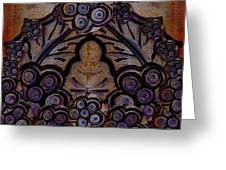 Holy In Peace And Acryl Greeting Card