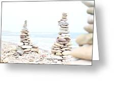 Holy Island Pebbles Greeting Card