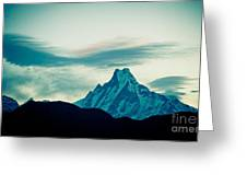 Holy Mount Fish Tail Machhapuchare 6998 M Greeting Card