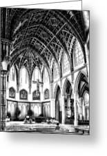 Holy Name Cathedral Chicago Bw 03 Greeting Card