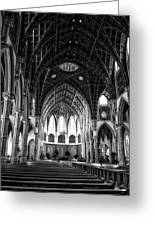Holy Name Cathedral Chicago Bw 04 Greeting Card