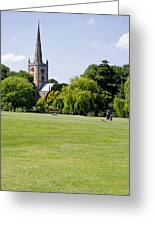 Holy Trinity Church At Stratford Upon Avon Greeting Card