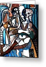 Homage To Digital Picasso Greeting Card by Mindy Newman