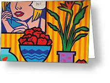 Homage To Lichtenstein And Wesselmann Greeting Card