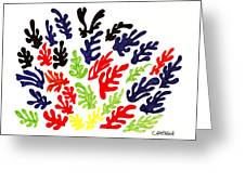 Homage To Matisse Greeting Card