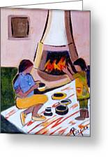 Home And Hearth In Taos Greeting Card