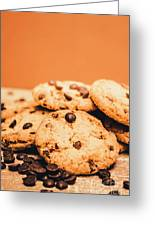 Home Baked Chocolate Biscuits Greeting Card