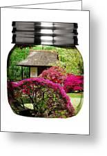 Home Flower Garden In A Glass Jar Art Greeting Card