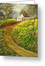 Home In Springtime Greeting Card